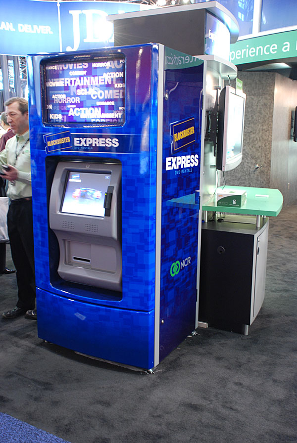 Blockbuster Express: ncr corp who licenses the bb name for its blockbuster express kiosks ...
